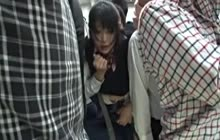 Poor Japanese Teen Used By A Maniacs In The Train