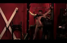 Hot Dominatrix Playing With Her Slave