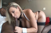 Interracial sex with MILF with big tits and ass