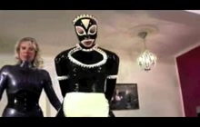 Latex Maid Spanked And Punished