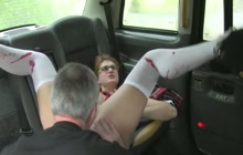 Nerdy Schoolgirl Fucked By Taxi Driver