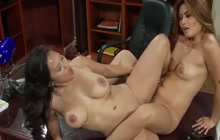 Charmane seduces friend in the office