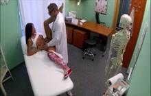 Hidden cam caught a doctor fucking his patient