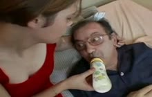 Perverse Grandpa Fucking A Young Chick