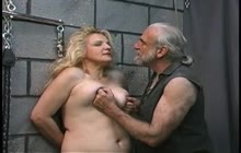 Tied Up Fat Chick Getting Spanked And Whipped