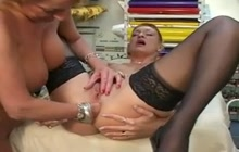 Mature lesbians fisting each other