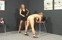 Claudia gets caned by mistress Kyra