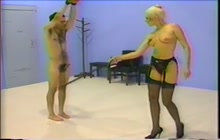 Hard femdom whipping