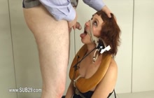 elegant BDSM toilet slut fucked anally hard