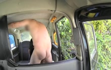 Masseuse sucking and fucking in the fake taxi