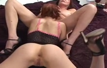 Mature lady with a young hottie