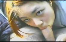 Japanese GF giving head