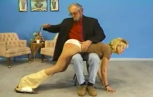 Vintage hot ass spanking