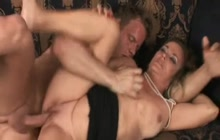Old slut fucking a young dude