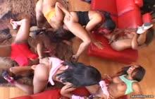 Mocha Honeyz Orgy s7 with Pursuajon, Carmen Hayes and Kandice Nikole