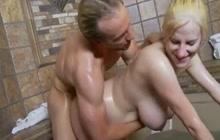 Horny preggo GF fucked in the bathtub